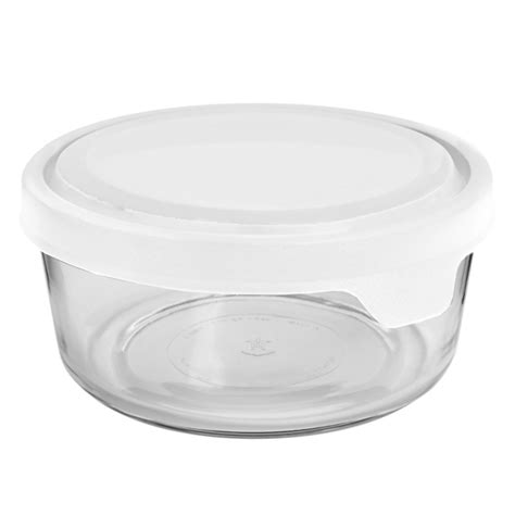 anchor hocking storage containers anchor hocking trueseal white glass storage container