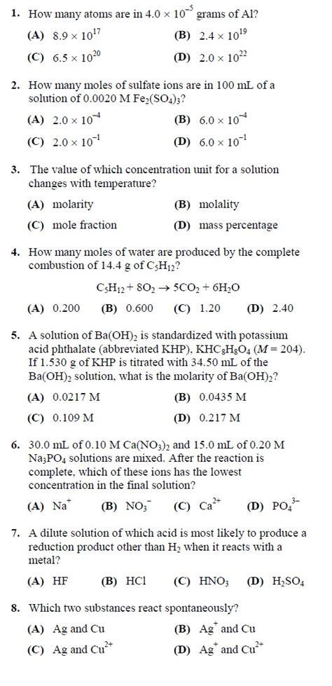 Wangsit Sbmptn Rumus Kimia Ujian Nasional Mandiri Kimia Soal Soal Pilihan Ganda Kelas X Semester 1