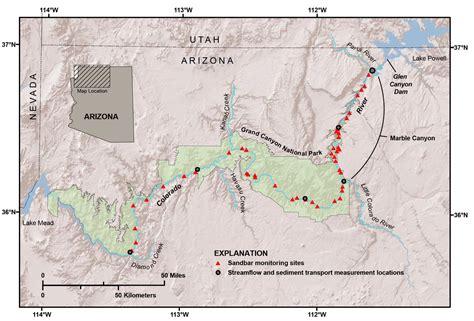 colorado river grand map rebuilding sandbars in the grand