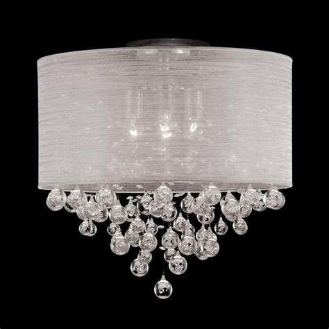 Ceiling Light Shade With Crystals by New 4 L Drum Shade Flush Mount Ceiling Light Lighting Dia 20 Quot Drum Shade Ceiling