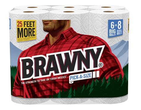 Who Makes Brawny Paper Towels - brawny 174 paper towels embraces bigger is better mantra