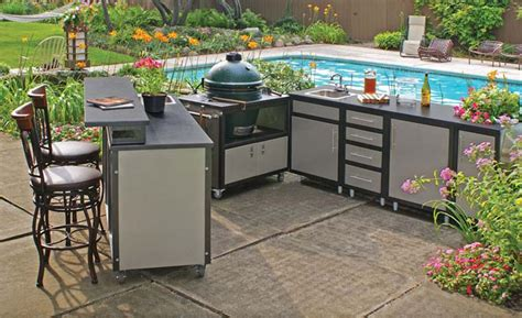 outdoor kitchen cabinet ideas pros and cons of different outdoor kitchen cabinets