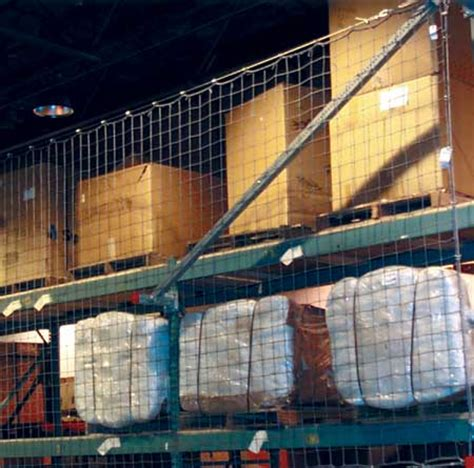 Pallet Rack Netting by Pallet Rack Safety How To Prevent Items From Falling