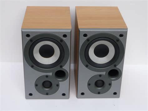 mission denon sc m5k bookshelf speakers in excellent