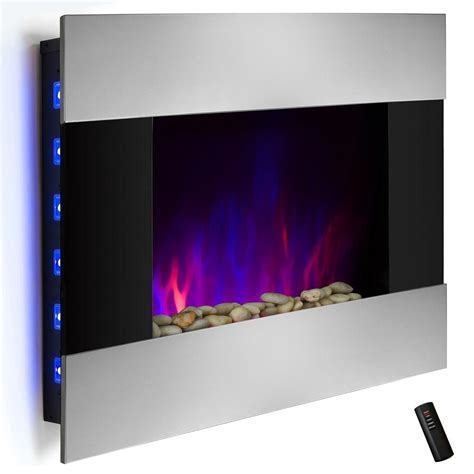 akdy 36 in wall mount electric fireplace heater in