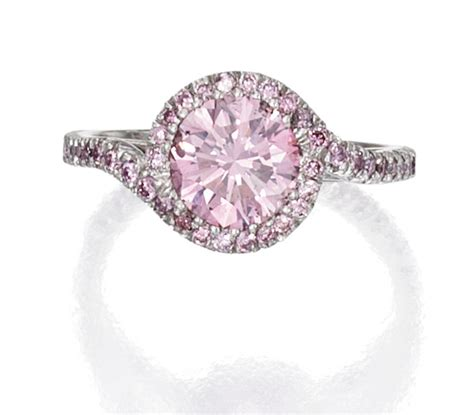 Pink Ring by Platinum And Pink Ring Pink Diamonds