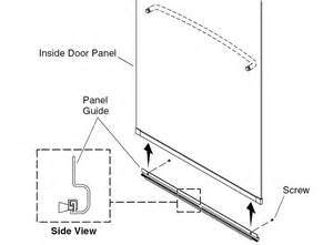 sliding shower door panel guide