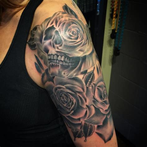 skull and rose half sleeve tattoos 21 half sleeve tattoos ideas design trends premium