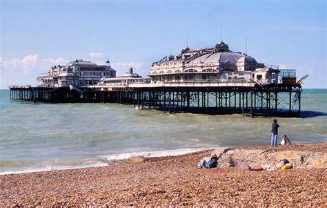pier west west pier brighton 1927 britain from above