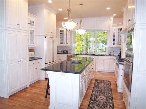 u shaped kitchen layout with island design that works with traffic the horseshoe or u shaped