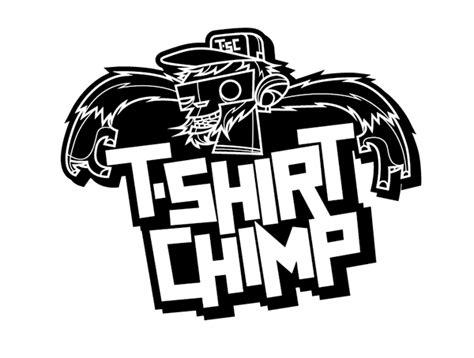 design t shirt logo free t shirt chimp logo on behance
