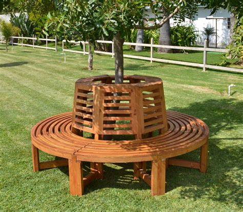 wooden tree bench outdoor wood tree bench forever redwood