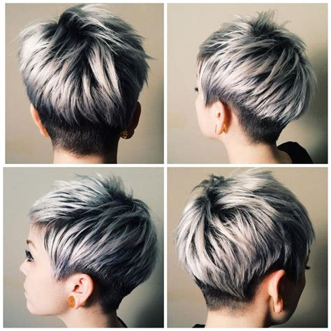 funky hairstyle for silver hair the silver journey career salons modern and short hair