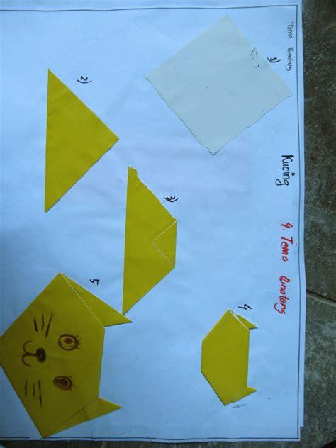contoh origami melipat kertas  paud berdasarkan