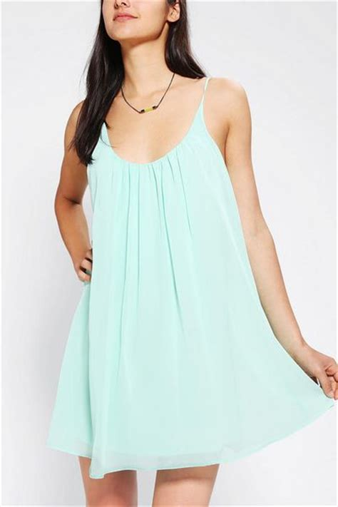 swing slip dress urban outfitters sparkle fade chiffon swing slip dress in