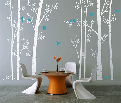 zazous wall stickers leafy trees white wall sticker by zazous