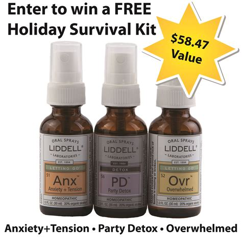 All Seasons Detox Kit by Liddell Laboratories Contest Enter To Win