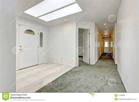 French Floor Plans bright entrance hallway with skylight stock photo image