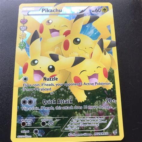 ebay pokemon cards pokemon 1x pikachu rc29 rc32 full art holo ultra rare