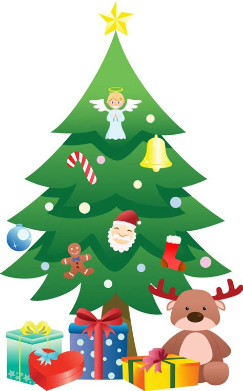 christmas tree vector premium download