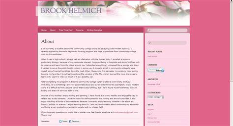 eportfolio templates sle e folios suny broome