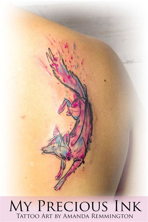 watercolor tattoos fox 17 best ideas about watercolor fox tattoos on