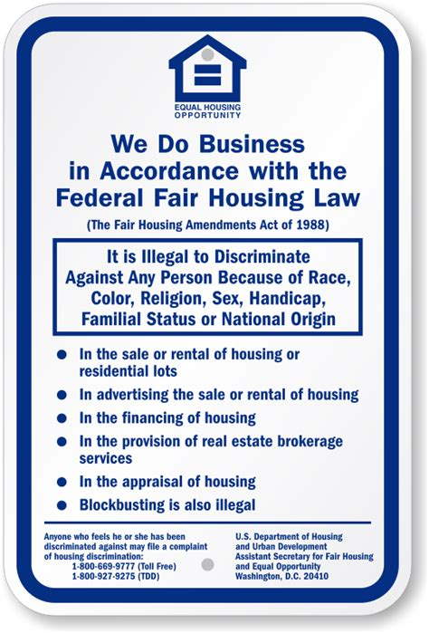 housing lawyers federal fair housing law sign huge customer base sku k 0264