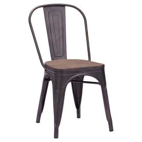 target metal wood dining chair industrial style metal and rustic wood dining chairs set