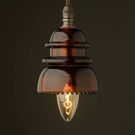 Insulator No42 Amber 240v E14 Pendant Light Lights For Sale