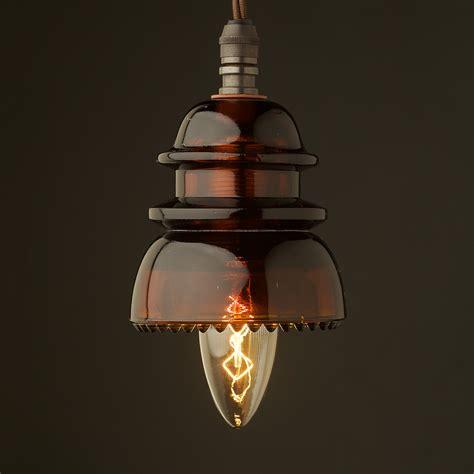 Insulator No42 Amber 240v E14 Pendant Light Lights For Sale