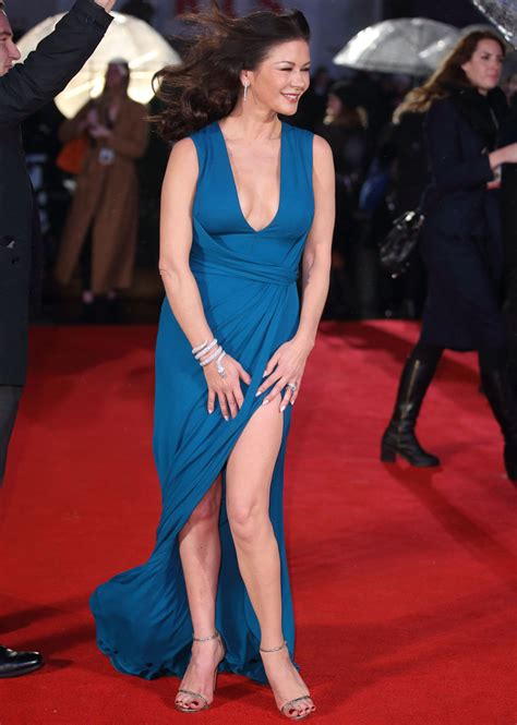 catherine zeta jones narrowly avoids wardrobe malfunction
