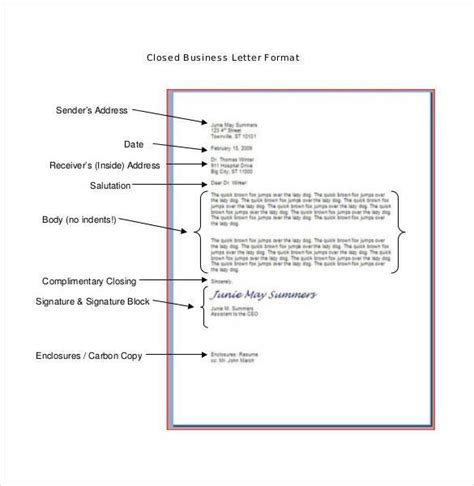 structural layout of a business letter 50 business letter template free word pdf documents