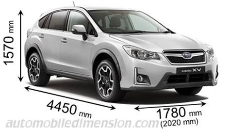 subaru forester measurements dimensions of subaru cars showing length width and height