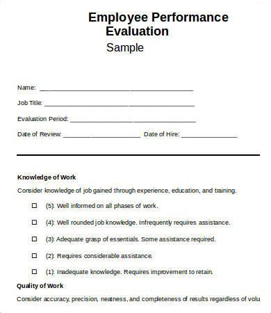 church staff evaluation form