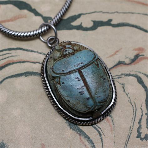 Pippin Vintage Jewelry by Ancient Scarab Pendant Pippin Vintage Jewelry