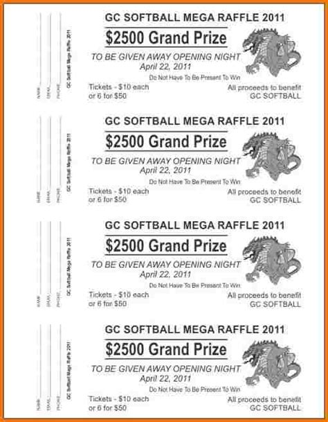 printable raffle tickets word raffle ticket template word authorization letter pdf