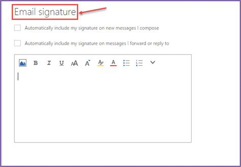 Office 365 Outlook Email Signature How To Set Email Signature In Office 365 Email Office