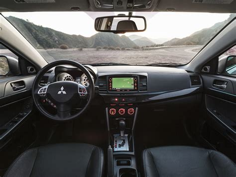 mitsubishi lancer sportback interior 2016 mitsubishi lancer price photos reviews features