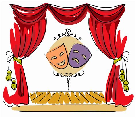 play theater stage clip art theatre clipart kid drama pencil and in color theatre