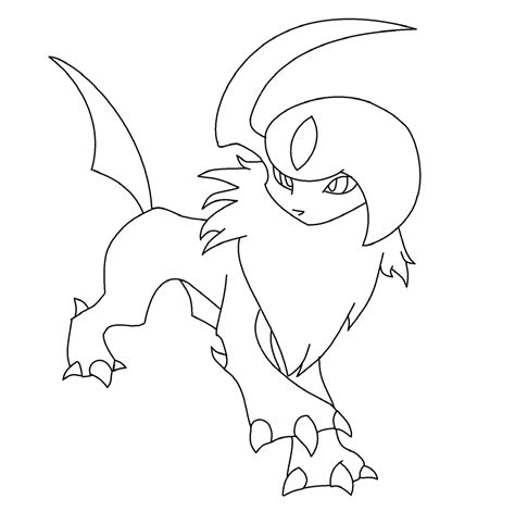 pokemon coloring pages of absol absol base by lucardar on deviantart