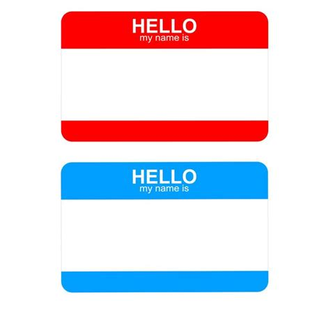 Free Hello My Name Is Sticker Badge Template Title Art Smash Journal Pinterest Mothers Name Tag Sticker Template