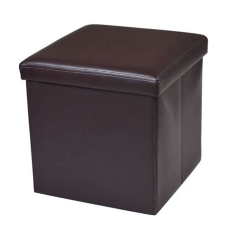 zimtown leather ottoman stool cube footrest storage seat