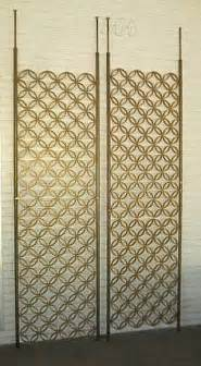 Tension Pole Room Divider Mcm Tension Pole Screens Mid Century Room Dividers