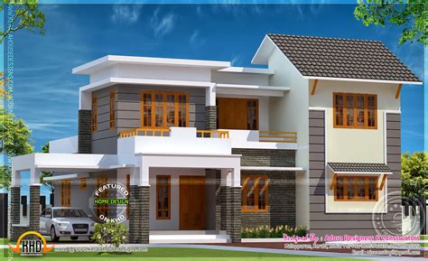 house designed elegant home in 1850 square feet kerala home design and floor plans