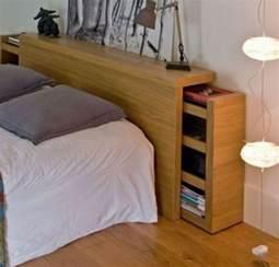 lit avec tete de lit rangement chambre