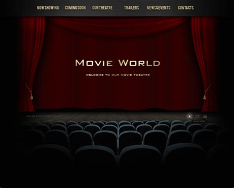 movie theatre dynamic video gallery admin flash template