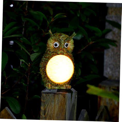 solar powered led ceramic owl outdoor decor light solar owl led light garden home yard decor outdoor light