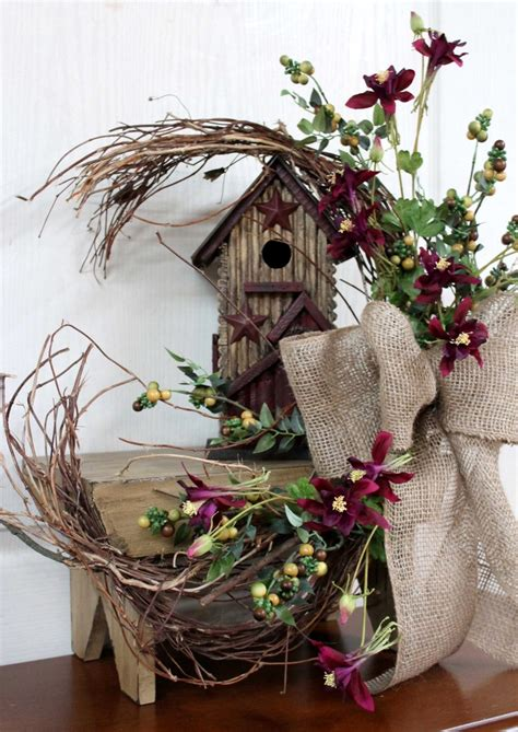 Rustic Primitive Decor by Primitive Decor Country Floral Front Porch Decor Rustic