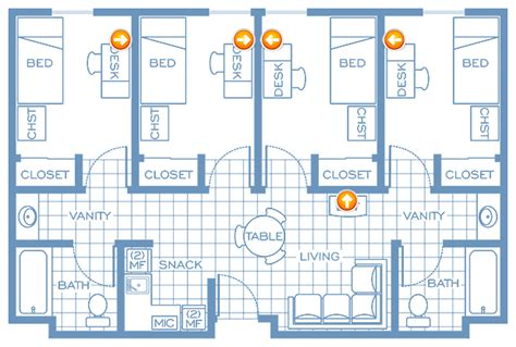 princeton dorm floor plans residence hall network access
