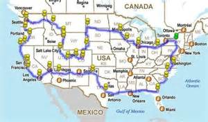 united states map driving distance how to drive across the usa hitting all the major